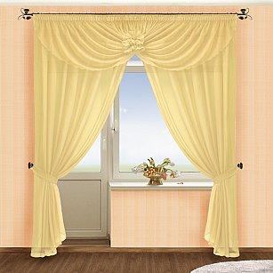 Комплект штор №022 Крем