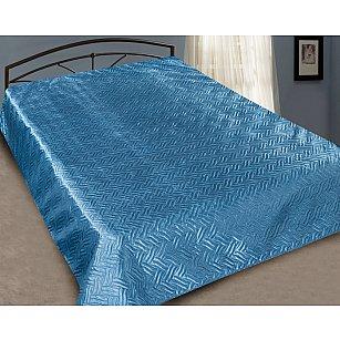 Покрывало шелк Premium №04, голубой