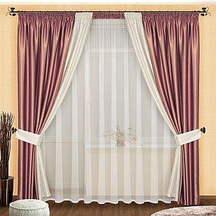Комплект штор №048 Сиреневый-Белый