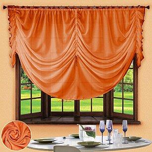 Шторы для кухни №049 Оранжевый