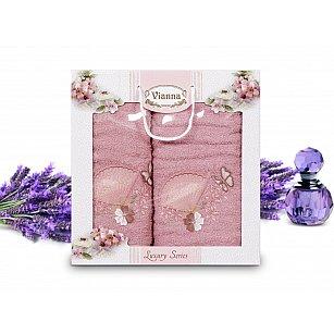 Комплект махровых полотенец Vianna Luxury Series дизайн 02 (50*90; 70*140)