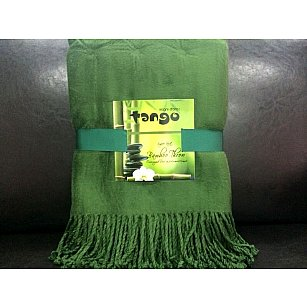 Плед Bamboo Throw №01, зеленый, 150*200 см