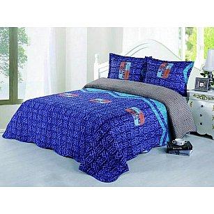 Покрывало фланелевое Танго MОМА, синий, 230*250 см