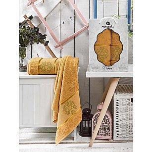 Комплект махровых полотенец Merzuka Damask дизайн 01 (50*80; 70*130)
