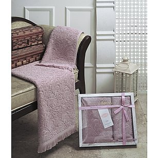 """Комплект из 2-х махровых полотенец (50*90; 70*140) """"KARNA ESRA"""", розовый"""