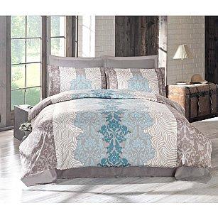 Комплект постельного белья ALTINBASAK VIVID Сатин (2 спальный), голубой