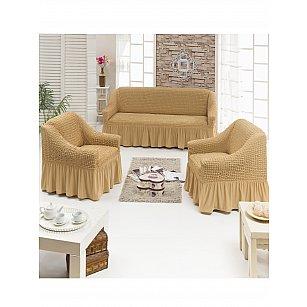 """Набор чехлов для дивана и кресел """"DO&CO"""" 3+1+1, медовый"""