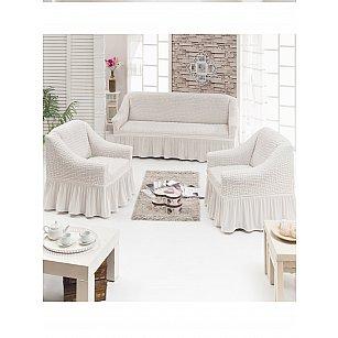 """Набор чехлов для дивана и кресел """"DO&CO"""" 3+1+1, натуральный"""