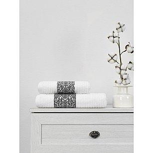 Полотенце махровое TexRepublic Cotton Barok, белый