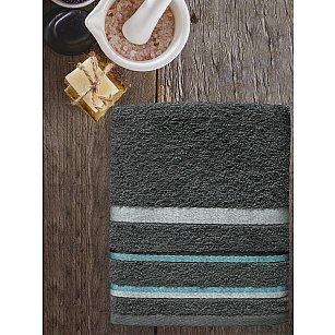 Полотенце махровое TexRepublic Cotton Line, темно-серый