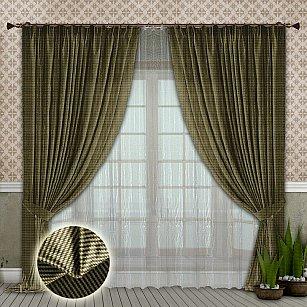 Комплект штор №104 Светло-оливковый