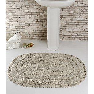 """Коврик для ванной кружевной """"MODALIN YANA"""", экрю, 60*100 см"""