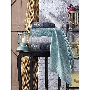 Комплект махровых полотенец TexRepublic Bamboo Valle, серый