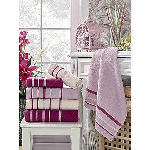 Комплект махровых полотенец TexRepublic Cotton Line, фуксия