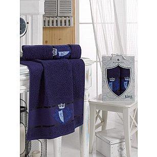 Комплект махровых полотенец MERZUKA KING (50*90, 70*140), синий