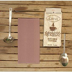 """Набор вафельных салфеток """"MEDLEY"""", грязно-розовый, 40*60 см - 2 шт"""