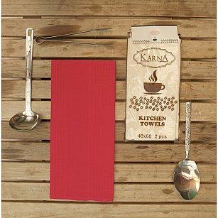 """Набор вафельных салфеток """"MEDLEY"""", красный, 40*60 см - 2 шт"""