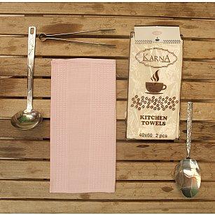 """Набор вафельных салфеток """"MEDLEY"""", розовый, 40*60 см - 2 шт"""
