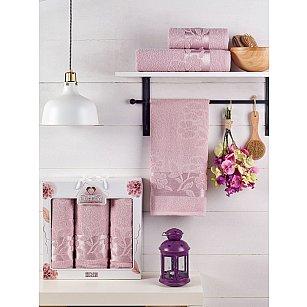 Комплект махровых полотенец TWO DOLPHINS ERIN (50*90*2; 70*140), светло-розовый