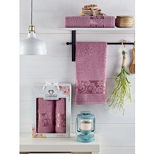 Комплект махровых полотенец TWO DOLPHINS EMIRA (50*90; 70*140), лиловый