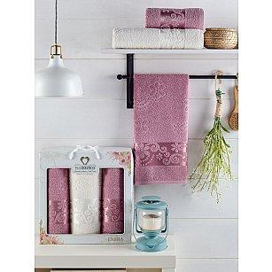 Комплект махровых полотенец TWO DOLPHINS EMIRA (50*90*2; 70*140), лиловый