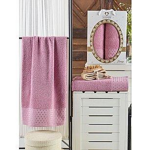 Комплект махровых полотенец TWO DOLPHINS LENNY (50*90; 70*140), лиловый