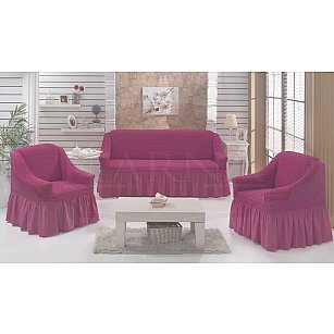 "Набор чехлов для дивана и кресел ""BULSAN"" 3+1+1, светло-лаванда"