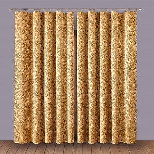 Комплект штор 1110007, золотой