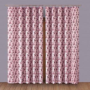 Комплект штор №1110072, розовый