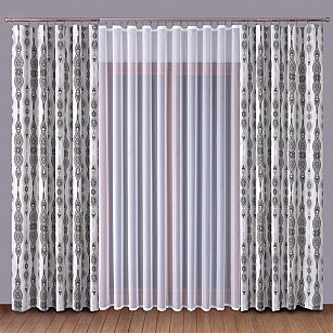 Комплект штор №1110077, серый