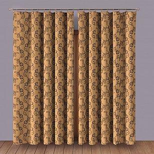 Комплект штор №1110081, коричневый