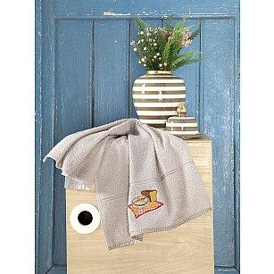 "Полотенце кухонное махровое ""KARNA BREAKFAST"", бежевый, 45*70 см"