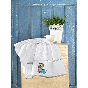 "Полотенце кухонное махровое ""KARNA BREAKFAST"", белый, 45*70 см"
