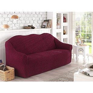 """Чехол для дивана """"KARNA""""  двухместный, без юбки, бордовый"""