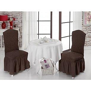 Набор чехлов на стулья 1/2, коричневый