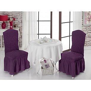 Набор чехлов на стулья 1/2, фиолетовый