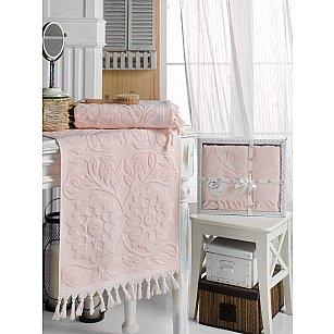 Комплект махровых полотенец DO&CO AMAZON (50*90, 70*140), розовый