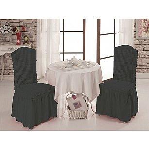 Набор чехлов на стулья 1/2, темно-серый