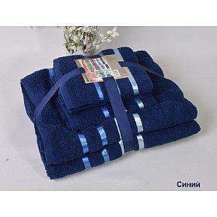 """Комплект из 4-х махровых полотенец (50*80; 70*140) """"KARNA BALE"""", синий"""