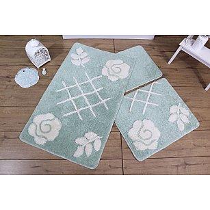 Набор ковриков для ванной DO&CO PASTEL (50*60; 60*100), мятный