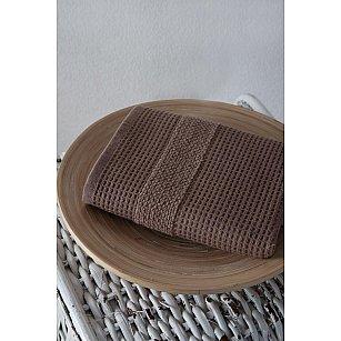 "Полотенце кухонное микрокотон двухсторонний ""TRUVA"", коричневый, 40*60 см"