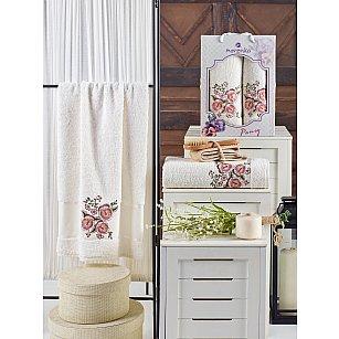 Комплект махровых полотенец MERZUKA PANSY (50*90; 70*140), кремовый