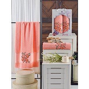 Комплект махровых полотенец MERZUKA PANSY (50*90; 70*140), оранжевый
