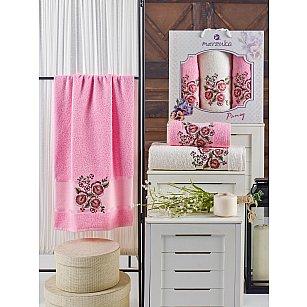 Комплект махровых полотенец MERZUKA PANSY (50*90*2; 70*140), розовый