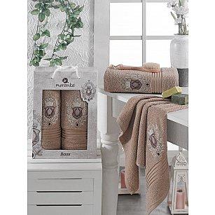 Комплект махровых полотенец MERZUKA BOSS (50*80; 70*130), коричневый