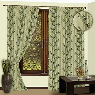 Комплект штор №112 Зеленый
