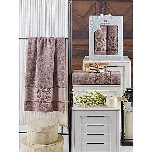 Комплект махровых полотенец MERZUKA SNOWFLAKE (50*90; 70*140), темно-серый