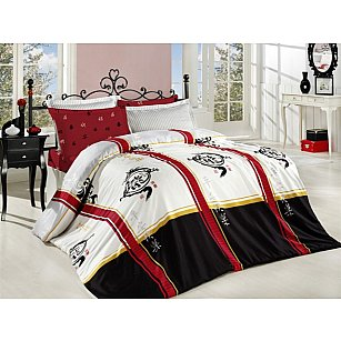 Комплект постельного белья ALTINBASAK DRAGON Сатин (2 спальный), красный