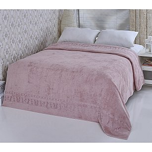 """Простынь бамбуковая """"PUPILLA ELIT"""" в коробке, грязно-розовый, 200*220 см"""