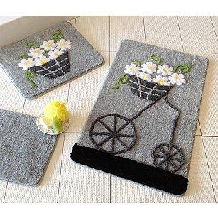 Набор ковриков для ванной DO&CO ALACATI (60*100; 40*60), серый